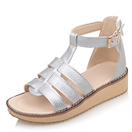 Women's ShoesLow HeelWedges/Gladiator/Open Toe Sandals Dress/Casual Black/Brown/White/Silver
