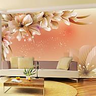 efecto de cuero shinny la decoración de pared grande flores Papel pintado mural del arte de la sala de estar de fondo tv SOAF