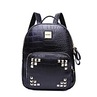 HOWRU® Women 's PU Backpack/Tote Bag/Leisure bag/Travel Bag-Black