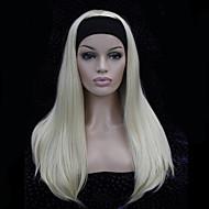 fashion half pruik 3/4 pruiken met hoofdband lange rechte synthetisch haar pruik kleurkeuzes