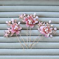 Mulheres Menina das Flores Strass Liga Resina Capacete-Casamento Ocasião Especial Alfinete de Cabelo 2 Peças