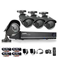 SANNCE® 8CH CCTV System 960H DVR 4PCS 1000TVL IR Weatherproof Outdoor CCTV Camera Home Security Surveillance Kits