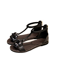 Women's Shoes Leatherette Chunky Heel Fashion Boots /T-Strap / Comfort / Shoes & Matching Bags /  Round ToeSandals /