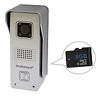 SmaInHand 720P HD Metal Outdoor WiFi Doorbell Video Door Phone with 8GB SD Card Inside