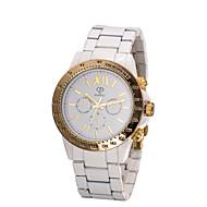 Mulheres Relógio de Moda Quartzo Impermeável Cerâmica Banda Branco Branco