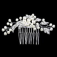 peignes perles de cristal d'argent pour les bijoux dame fête de mariage