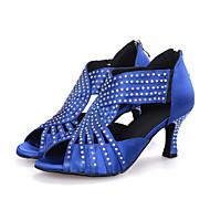 מותאם אישית-עקב רחב-סאטן-לטיני / ג'אז / מודרני / נעליי ריקוד סווינג-נשים