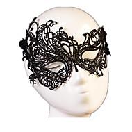 Maske Cosplay Fest/Feiertage Halloween Kostüme Schwarz einfarbig / Spitze Maske Halloween Unisex