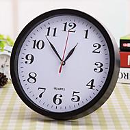 Κυκλικό Μοντέρνο/Σύγχρονο Ρολόι τοίχου,Σπίτια Πλαστικό 23*23*10 cm (9.06*9.06*3.94 inch)