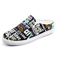 Men's Shoes Athletic Canvas Fashion Sneakers Black / White