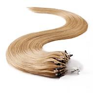 neitsi 100 % 인간의 머리 확장 마이크로 링 머리 24 인치 25 가닥 루프
