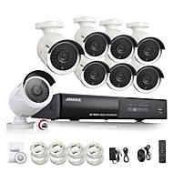 annke® nova 8ch cctv poe sistema NVR NVR vídeo 1080p ourput sistema de segurança IP câmera 1080p 2.0W intempéries CCTV