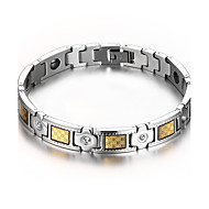 Men's Jewelry Health Care Silver Stainless Steel Magnetic Therapy Bracelet Fashion  Christmas Gifts