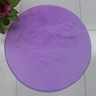 """Pure Colored Casual Style Polyester Fiber Material Non-Slip Thickened Circular Mat W23"""" x L23"""""""