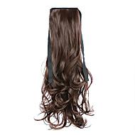 Perücke braun 50cm Hochtemperatur langen Haaren Pferdeschwanz Farbe 4a Drahtbügel Stil / 33
