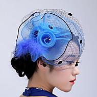 Women's Basketwork / Organza Headpiece-Wedding / Special Occasion / Casual / Outdoor Fascinators 1 Piece