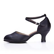 Na míru-Dámské-Taneční boty-Břišní / Latina / Taneční tenisky / Moderní / Vystupovací / Swing / Salsa-Kůže-Kubánský-Černá / Červená /