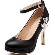נעלי נשים - בלרינה\עקבים - סינטתי - עקבים / בלרינה בייסיק - שחור / ורוד / לבן - משרד ועבודה / שמלה / קז'ואל - עקב סטילטו