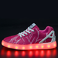 LED Light Up Shoes, Women's Shoes Tulle Flat Heel Comfort Fashion Sneakers Outdoor / Athletic / Casual Fuchsia