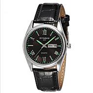 SYNOKE Men's Wrist watch Calendar Quartz Japanese Quartz Leather Band Black Pink