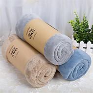 "High Quality Solid Coral Fleece Bath Towel Beach Towel 27.5"" by 59"""