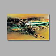 Pintados à mão Abstrato / Paisagem Pinturas a óleo,Moderno 1 Painel Tela Pintura a Óleo For Decoração para casa
