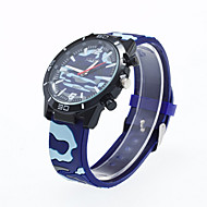 Men's Military Watch Quartz Analog Wrist Watch Silicone Band Fashion Watch(Assorted Color) Cool Watch Unique Watch