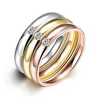 Široké prsteny Prsteny s kamenem Prsten Kubický zirkon ZirkonMódní Bohemia Style Punkový styl Nastavitelná Rozkošný minimalistický styl