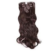 """neitsi 20 """"140g lokny vlnité vlasy útek clip in / syntetických prodlužování vlasů 7ks"""
