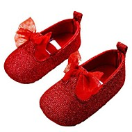 Girl's Flats Spring / Fall Comfort / Round Toe Glitter Outdoor Red