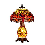 Tiffany Dragonfly Designed Table Lamps with 2 Light