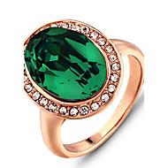 Široké prsteny Barva ozdobného kamene Módní Zelená Šperky Svatební Párty Denní Ležérní 1ks