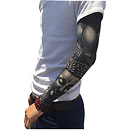 mote sport sykkel sykling arm ermene dekke huden solbeskyttelse elastisk armband (2 stk)