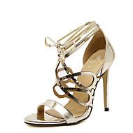 נעלי נשים-סנדלים-דמוי עור-עקבים / גלדיאטור / בלרינה בייסיק / שפיץ / נוחות / חדשני-שחור / כסוף / זהב-חתונה / שמלה / קז'ואל / מסיבה וערב-