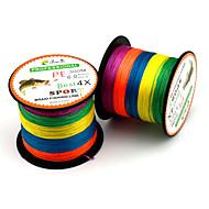 0.8-8.0# Multicolored Braided Fishing Line Dyneema Fishing Line Super-4 Encoding 300M PE Fishing Line