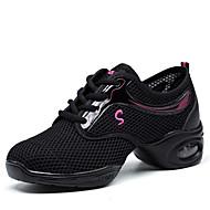 Sapatos de Dança(Branco Preto Fúcsia) -Feminino-Não Personalizável-Tênis de Dança
