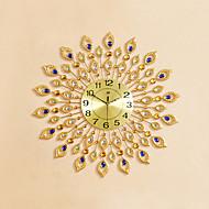 Rund / Nyhet Moderne / Nutidig Wall Clock,Blomst / Botanikk / Dyr / Inspirerende / Cartoon Glass / Metall / Stein72cm x 72cm(28in x 28in
