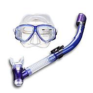 Dykkermasker Svømmebriller Tørrdrakt - topp Dykking og snorkling Silikon Gul Blå Svart-SBART