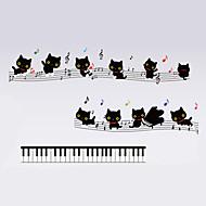 Zvířata / Komiks / Hudba / Zátiší / Módní / Volný čas Samolepky na zeď Samolepky na stěnu,PVC 70*50*0.1