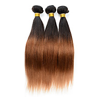 3 Pieces Straight Human Hair Weaves Peruvian Texture 100 12-26 Human Hair Extensions
