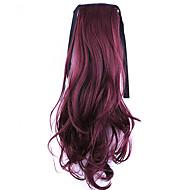 comprimento de ouro 50 centímetros venda direta da fábrica ligamento tipo de cabelo rabo de cavalo rabo de cavalo de onda (cor bug)
