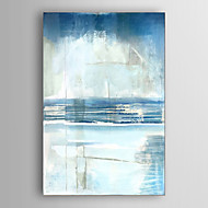 Hand Painted Oil Painting Abstract midnight at the bay with Stretched Frame 7 Wall Arts®