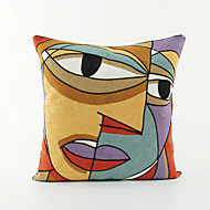 Impressionist /Abstract Art Pattern Cotton Pillowcase  Home Decor pillow Cover (18*18inch)