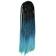 20 inch Kanekalon szenegáli zsinórra horgolt puha dreadlock zsinórozás haj ombre színes horgolt horog