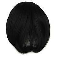 Perücke schwarz 7cm schräg Hochtemperatur-Draht knallt Farbe 2