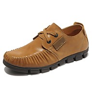 Men's Shoes Wedding / Office & Career / Party & Evening / Dress / Casual Nappa Leather Oxfords Brown / Taupe