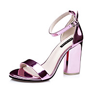 Women's Shoes Chunky Heel Heels / Round Toe / Open Toe Sandals Dress Purple / Silver / Gray / Gold / Champagne