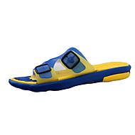 Herren Slippers & Flip-Flops Komfort Silikon Frühling Sommer Herbst Normal Walking Komfort Flacher Absatz Gelb Braun Blau Schwarz/Rot