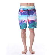 Yoga Pants Fundos Respirável / Secagem Rápida / Drenagem Natural Stretchy Wear Sports Branco / Verde / Preto / Azul Homens YokalandIoga /