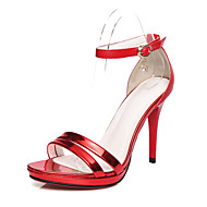 Women's Shoes Stiletto Heel Heels / Peep Toe / Platform Sandals Wedding / Party & Evening / Dress Red / Gold / Bronze